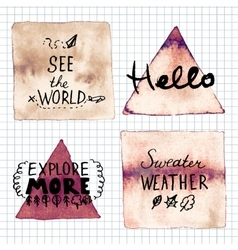 Hello see the world sweater weather explore vector