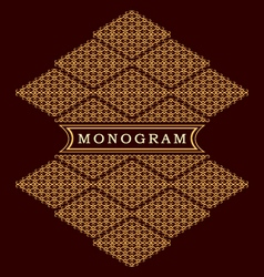 Monogram design elements graceful template vector