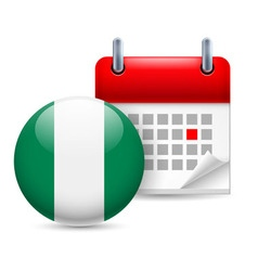 Icon of national day in nigeria vector