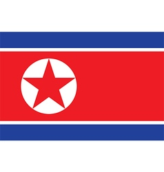 Flag of north korea vector