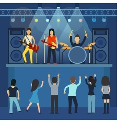 Rock concert guitar and musician musical vector