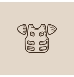 Motorcycle suit sketch icon vector