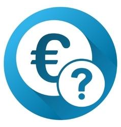Euro status gradient round icon vector