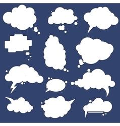 Speak cloud bubbles set vector