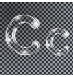 Bubbles letters c vector