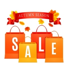Autumn Sale Shopping Bags vector image vector image