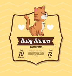 Baby shower card invitation celebration vector