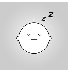 Baby sleep icon vector