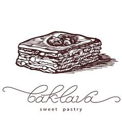 baklava sweet pastry vector image