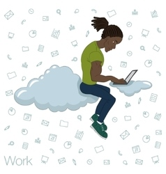 Cloud technologies services for work and life vector image vector image