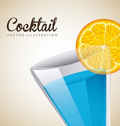 cocktail design vector image