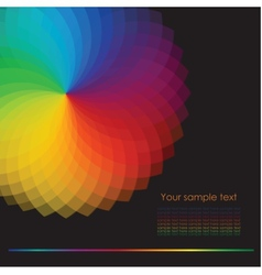 Color wheel background vector image