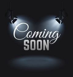 coming soon mystery retail concept with vector image