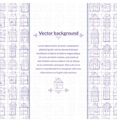 Contour houses background with pace for text vector image vector image