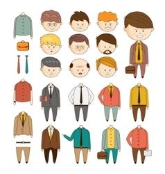 Create your ideal businessman set of vector