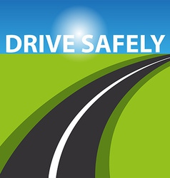 Drive safely background vector