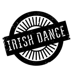 Famous dance style Irish dance stamp vector image vector image