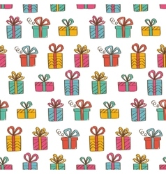Gift boxes seamless background vector image vector image