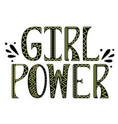 girl power with doodles vector image