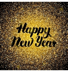 Happy New Year Gold Design vector image vector image