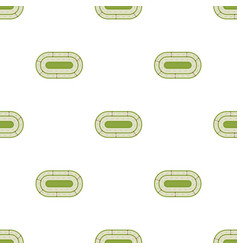 Hippodrome icon in cartoon style isolated on white vector