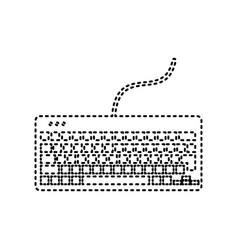 Keyboard simple sign black dashed icon on vector