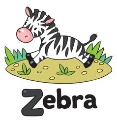 Little Zebra for ABC Alphabet Z vector image