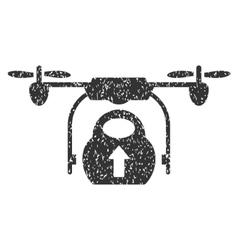 Load Cargo Drone Grainy Texture Icon vector image