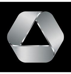 metal emblem vector image