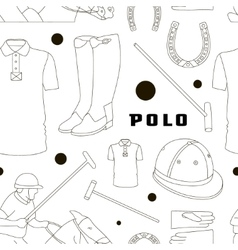 Polo objects sport uniform pattern vector
