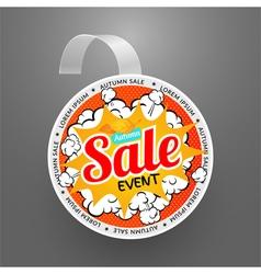 Round wobbler design template Autumn sale event vector image vector image