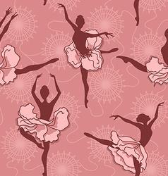 Seamless pattern of ballet dancers vector image vector image