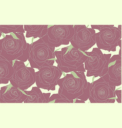 Seamless pattern of roses buds of roses vector