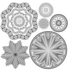 Sertif ornament round 5 380 vector