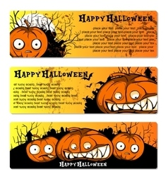 set of flyers to Halloween Party vector image vector image