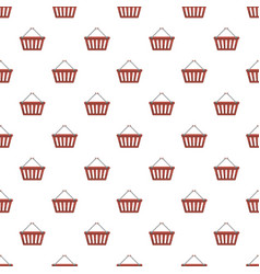 Shopping basket pattern vector