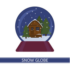 snow globe with house isolated vector image vector image