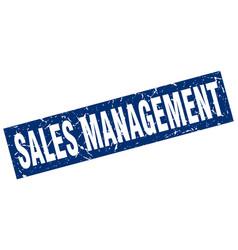 Square grunge blue sales management stamp vector