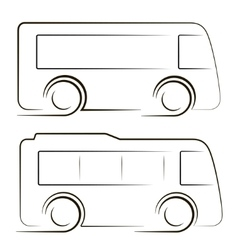 two black coaches contours image vector image vector image