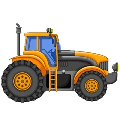 yellow tractor cartoon for you design vector image vector image
