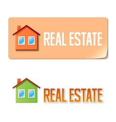 Real estate banner with house icon vector
