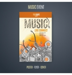 template for a concert poster or a flyer vector image