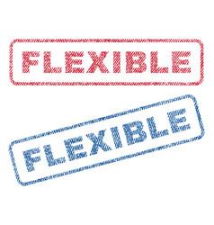 Flexible textile stamps vector
