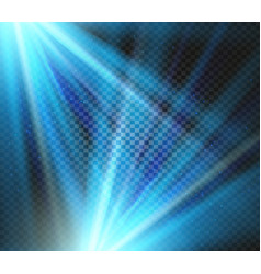 Shining blue color light effects glowing vector