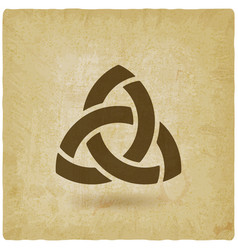 triquetra symbol old background vector image