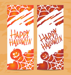Set of art cards for happy halloweendesign vector