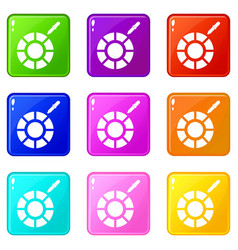 Color picker icons 9 set vector