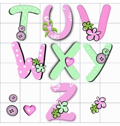 Girly letter vector