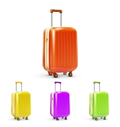 Travel suitcase set vector