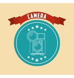 Retro camera design vector